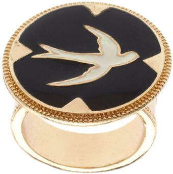 ASOS Collection Asos Enamelled Bird Claw Set Ring - Lyst