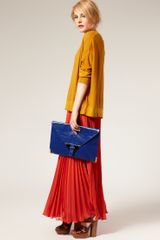 Asos Collection Asos Portfolio Envelope Clutch in Blue (cobalt) - Lyst