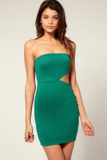 ASOS Collection Asos Bandeau Bodycon Dress with Cut Out Side - Lyst