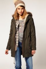 ASOS Collection Asos Parka with Detachable Faux Fur Lining