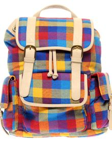 ASOS Collection Asos Multi Check Backpack - Lyst