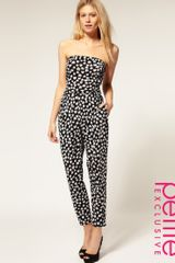 ASOS Collection Asos Petite Exclusive Heart Print Jumpsuit - Lyst