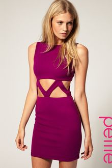 ASOS Collection Asos Petite Exclusive Bodycon Dress with Cut Out Waist - Lyst