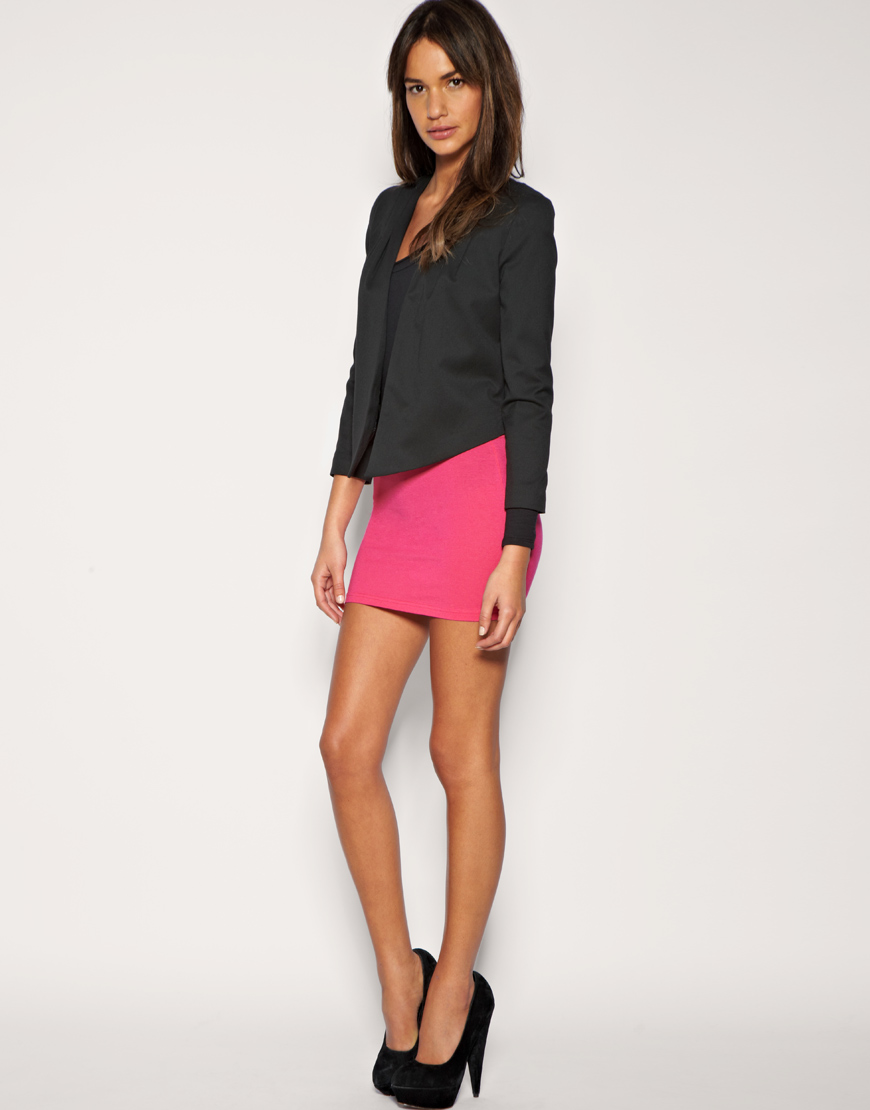 Asos Collection Asos Jersey Micro Mini Skirt In Pink Lyst