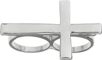 ASOS Collection Asos Double Finger Cross Ring - Lyst