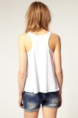 Asos Collection Asos Extreme Cut Out Vest in White - Lyst