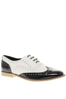 Asos Asos Marky Mono Leather Lace Up Brogue - Lyst