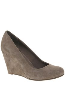 Asos Shoes Asos Scamp Suede Wedge Court Shoe - Lyst