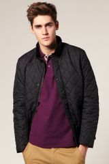Barbour Chelsea Sports Quilted Jacket in Black for Men - Lyst