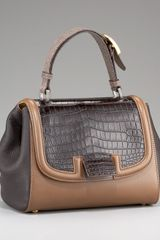 Fendi Silvana Croc & Stingray Bag - Lyst