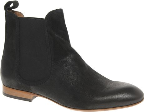h by hudson fairbank flat chelsea boot in black lyst. Black Bedroom Furniture Sets. Home Design Ideas