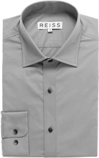 Reiss Formal Shirt with Seam Detail in Gray for Men (soft grey) - Lyst