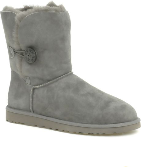 Ugg Bailey Button Side Boots in Gray (grey) - Lyst