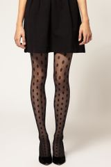 Wolford Bonny Dot Stay Ups in Black - Lyst