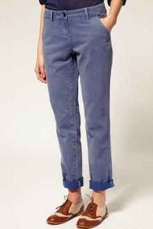 ASOS Collection Asos Purple Boyfriend Jeans - Lyst
