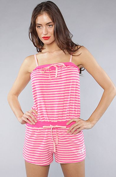 Betsey Johnson The Baby Terry Romper in Yipes Stripes