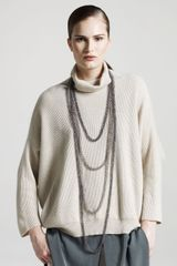 Brunello Cucinelli Oversized Ribbed Cashmere Sweater - Lyst