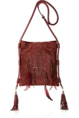 Emilio Pucci Embroidered Suede Bag - Lyst