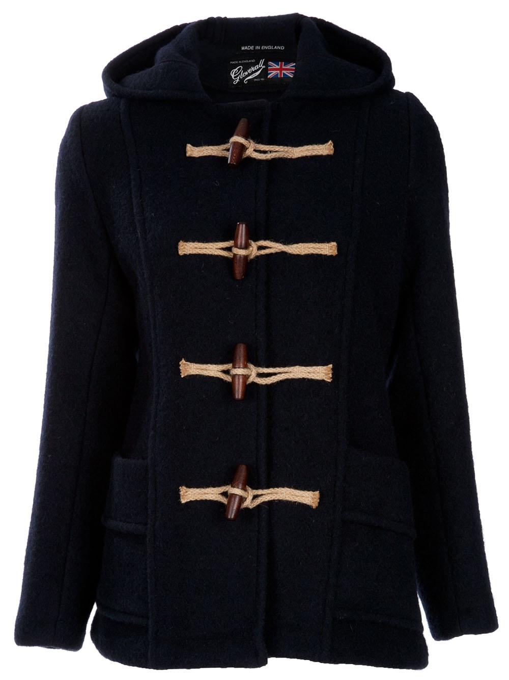 Gloverall Short Duffle Coat in Blue (navy)