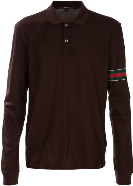 Gucci Polo Shirt In Brown For Men Lyst