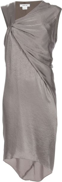 Helmut Lang Drape Dress in Gray (grey) - Lyst