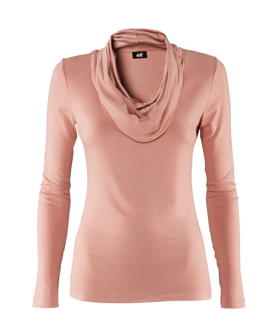 H m polo neck top in pink lyst for H m polo shirt womens