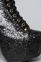 Jeffrey Campbell The Lita Shoe in Black Glitter in Black - Lyst
