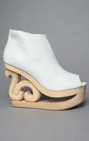 Jeffrey Campbell The Skate Shoe in White Leather in White - Lyst