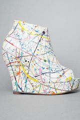 Jeffrey Campbell The Tick Paint Shoe in White Multi