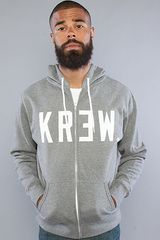Kr3w The Locker Zip Up Hoody in Gunmetal - Lyst