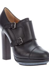 Lanvin Platform Shoe Boot in Black - Lyst