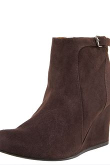Lanvin Suede Wedge Ankle Boot - Lyst