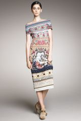Mary Katrantzou Off-the-shoulder Knit Dress