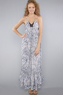 Plastic Island The Garden Of Eden Maxi Dress in Blue - Lyst