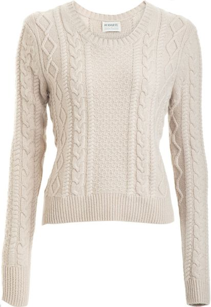 Rodarte X Opening Ceremony Cable Sweater in Beige (oatmeal)