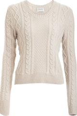 Rodarte X Opening Ceremony Cable Sweater in Beige (oatmeal) - Lyst