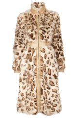 Valentino Fox Fur and Leather Coat