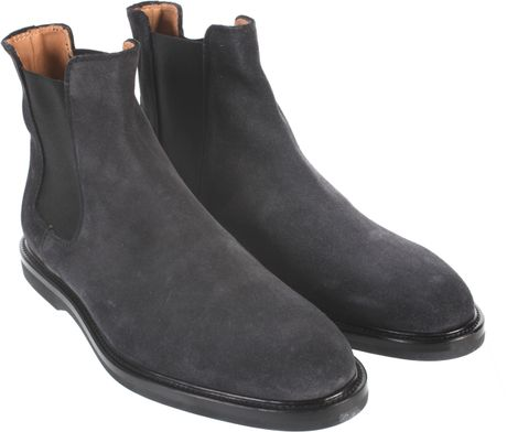 Common Projects Boots Chelsea Leather In Gray For Men Lyst
