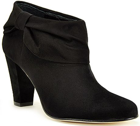 Kate Spade Bison  Black Suede Bootie in Brown (black) - Lyst