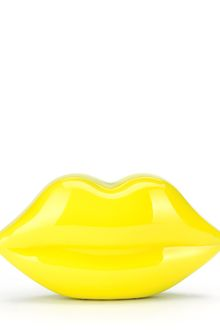Lulu Guinness Acid Yellow Perspex Lips Clutch - Lyst