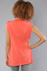 Wildfox The Tate Dylan Top in Orange (red) - Lyst
