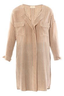 Forte Forte Striped Silk Tunic - Lyst