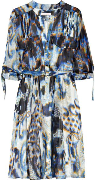 Matthew Williamson Printed Silk Shirt Dress - Lyst