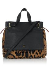 Jérôme Dreyfuss Johan Animal-print Calf Hair and Leather Tote - Lyst