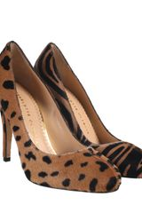 Charlotte Olympia Leopard and Zebra Foal Jenny Court Shoes in Brown (leopard) - Lyst