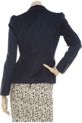 Moschino Cheap & Chic Tailored Woolblend Jacket in Blue - Lyst