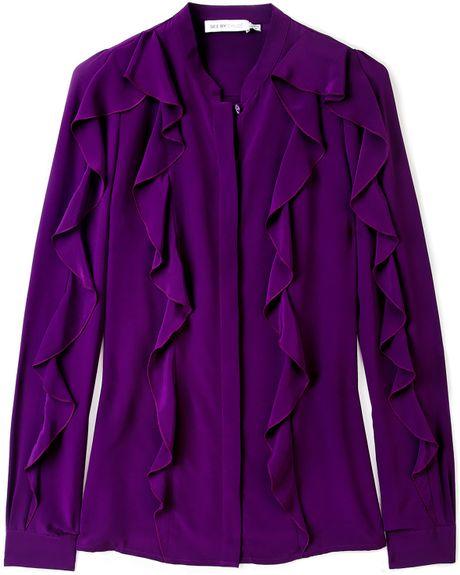 Ruffle Purple Blouse 42
