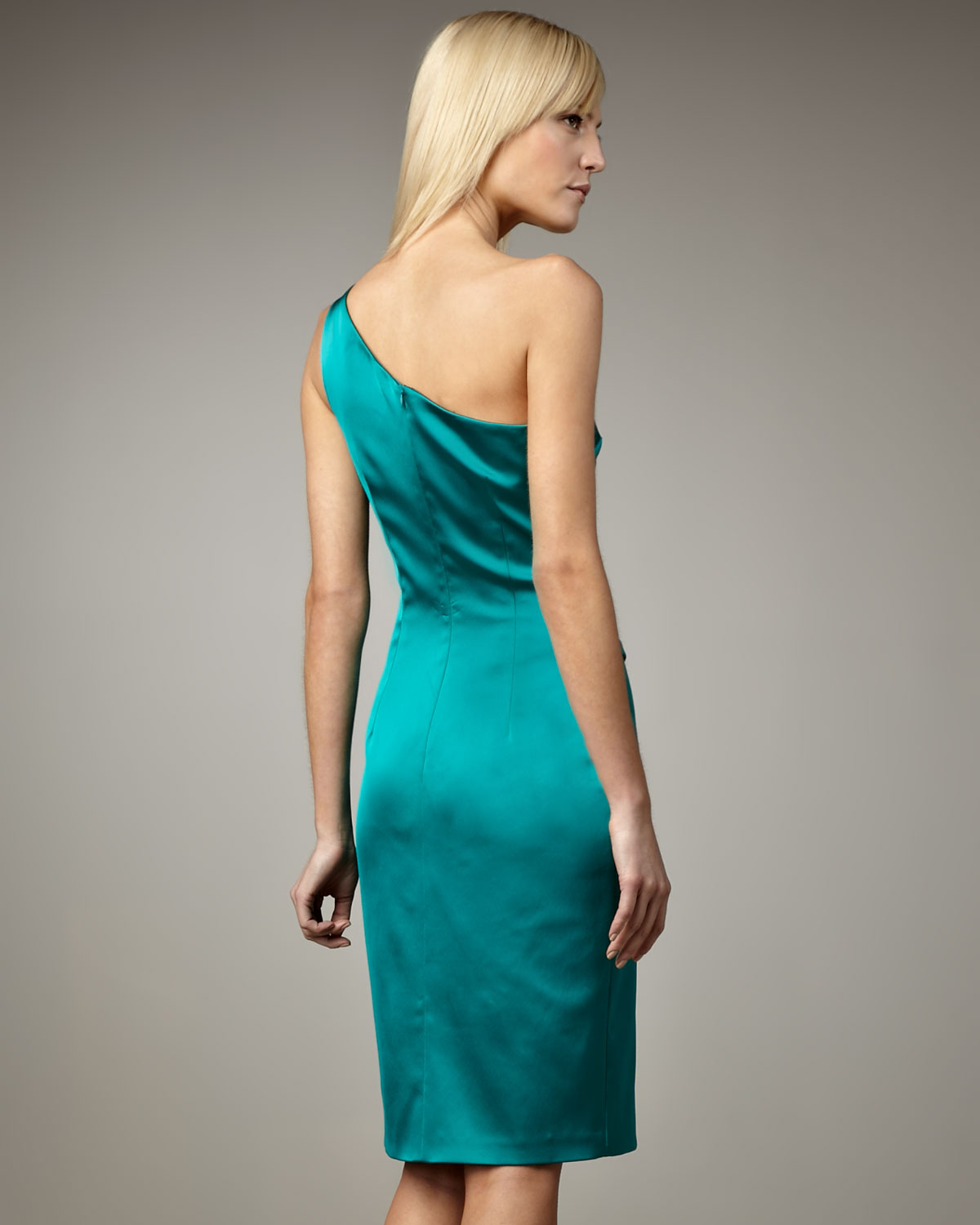 One Shoulder Blue Cocktail Dresses
