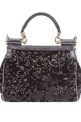 Dolce & Gabbana Mini Miss Sicily Handbag in Black - Lyst