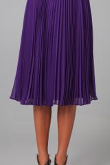 Halston Heritage Pleated Skirt - Lyst